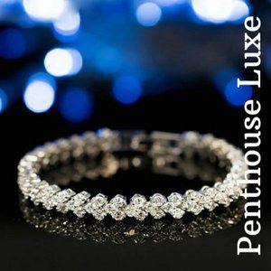 Sparkly CZ Silver Tennis Bracelet